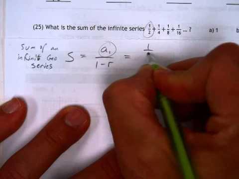 Worksheet 17 1 #25 Sum of an Infinite Geometric Series
