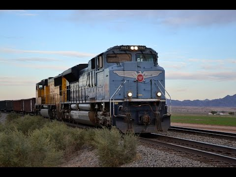 Railfanning Union Pacific's Yuma Subdivision-UP 1982, Foreign Power, Cantilevers, and More!