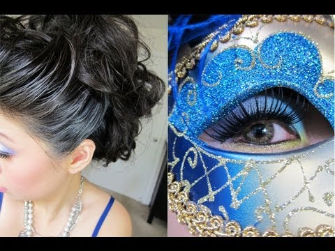 Halloween Tutorial Elegant Venetian Masquerade Hair Amp Makeup Youtube