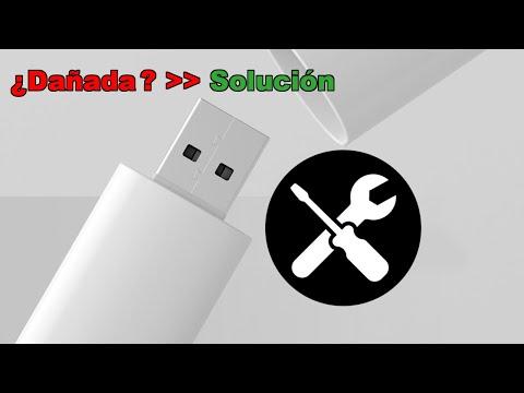 Cómo reparar una memoria USB o PenDrive dañada o no se puede abrir.