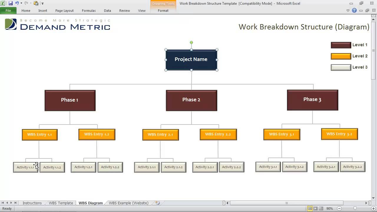 Work Breakdown Structure Template Youtube