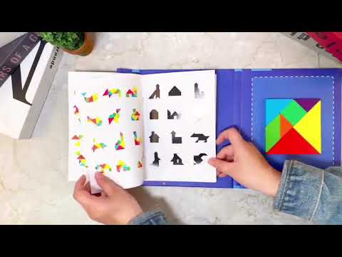 Educational Toy Magnetic Tangram Puzzle