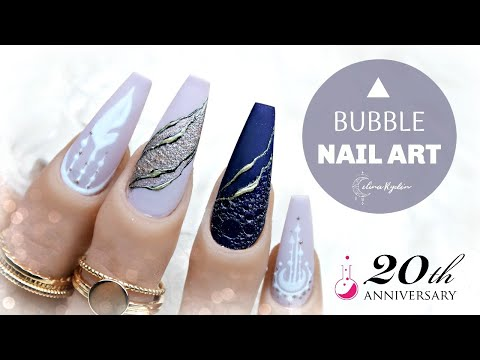 "BUBBLE NAILS! | GEL NAIL ART TUTORIAL | LIGHT ELEGANCE ""MISTRESSES OF ALL EVIL"" 