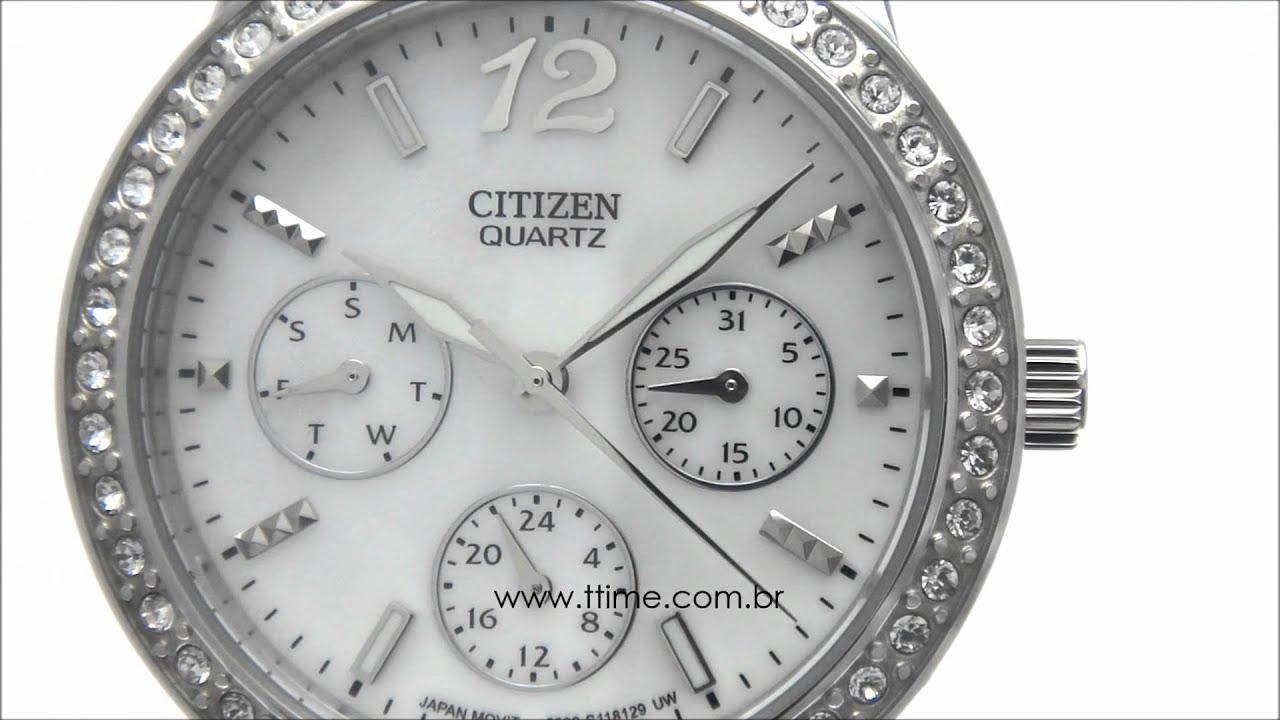 c1b9f380adc relógio feminino Citizen Ladies Madrepérola ED8090-53D - YouTube