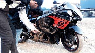 Highway Accident 2019 suzuki hayabusa india | superbike crash full video