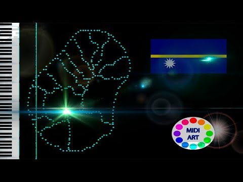 Musical map of Nauru -  midi art [drawing]