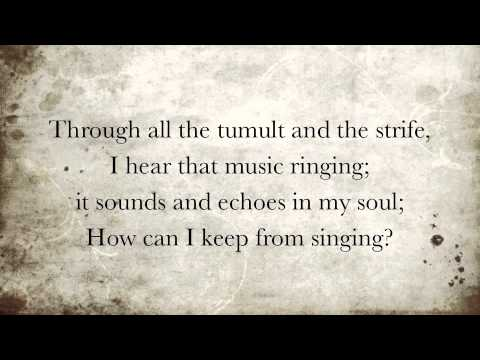 How Can I Keep from Singing with Lyrics