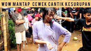 Basah Basah Menggoda Cewek Cantik Kesurupan Jaranan || Sigro Sigro Bikin Ndadi