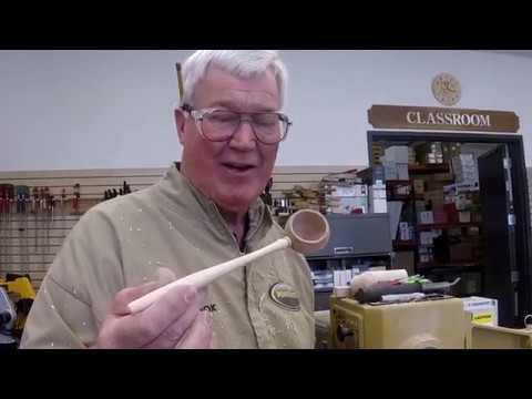 Nick Cook Demos Powermatic 3520B Lathe at Austin TX Woodcraft