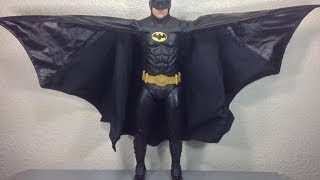 Batman 1989 neca michael keaton batman 1/4 scale collectible movie figure review