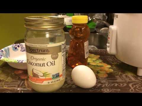 Egg, Coconut Oil, Honey Hair Mask for Balding Men