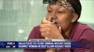Woman attacked in Deep Ellum charged by Dallas police for damaging vehicle