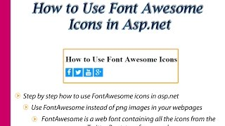 How to use Font Awesome Icons in Asp.net