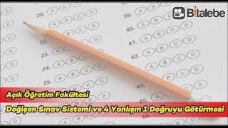 Değişen AÖF  Sınav Sistemi ve 4 Yanlışın 1 Doğruyu Götürmesi