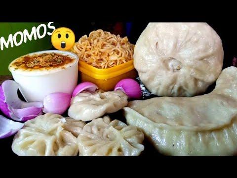 Download Eating giant momo noodles sauce asmr mukbang