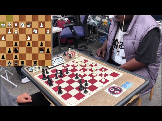 Knight Fork! Spectator CHALLENGES Chess Twins - NYC Chess Hustling