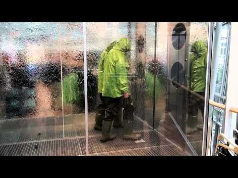 Wind and Rain Chamber at Globetrotter megastore, Munich