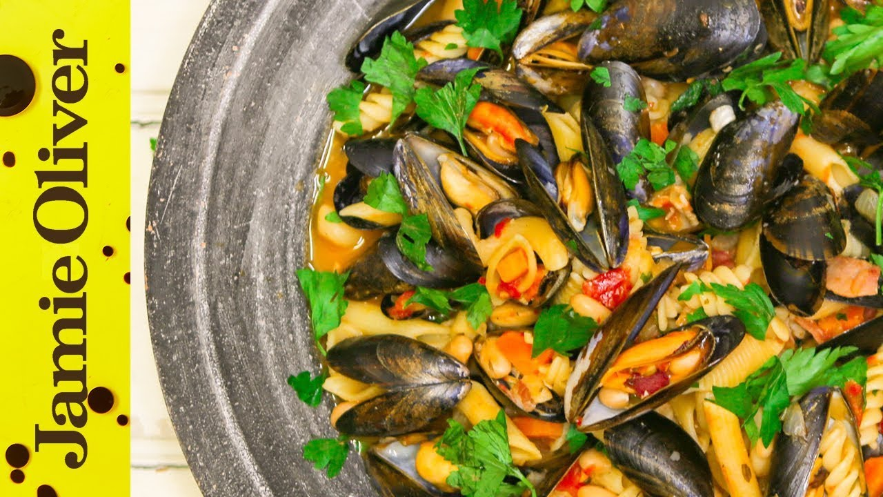 Romantic mussels pasta e fagioli katie pix youtube forumfinder Image collections