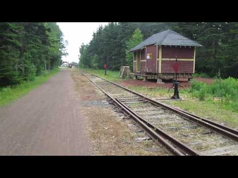 Imaginary train ride into Elmira Station, PEI