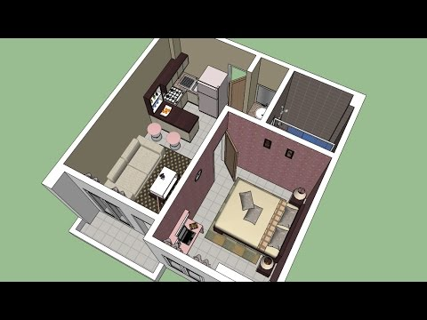 Sketchup Interior Design ( Apartment)