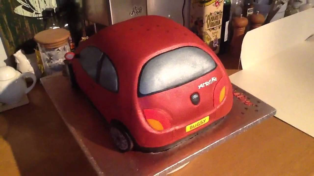 How To Get Mold Out Of A Car >> Ford KA cake for Anneka's 18th birthday - YouTube