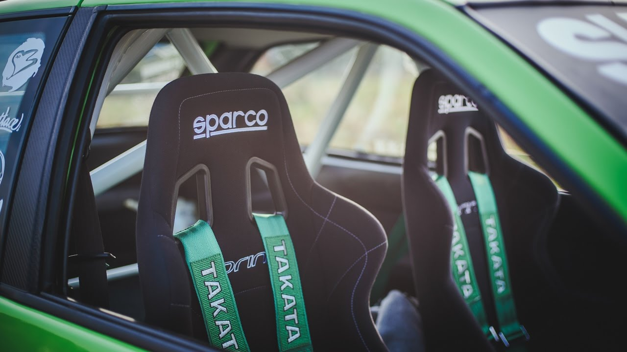 install TAKATA racing harness & SPARCO SPRINT racing seats ...