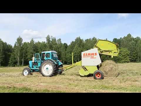 Пресс-подборщик Claas Rollant 42 Farmer  с трактором т 40.