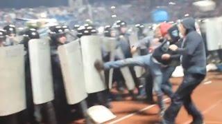 13/14 Shinnik Yaroslavl - Spartak Moscow fans vs riot police