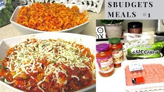 $ 10.29 (2) Budget Meals #1 ~ Low Carb Zucchini Skillet Bake | 2 Meals In 1 -Aldi | SERIES