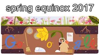 Frühlingsanfang 2017 - spring equinox 2017 - lente-equinox - 春分の日 2017(Google Doodle)