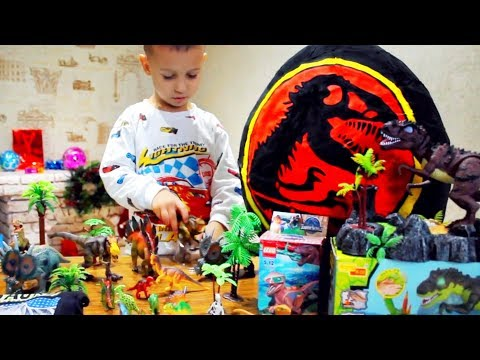 ★Giant Egg Surprise Opening! Jurassic World Dinosaur Toys Kids Video ЯЙЦО ДИНОЗАВРА сюрприз