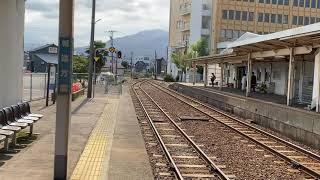 JR城端線8374D快速べるもんた54号キハ40-2027高岡行き