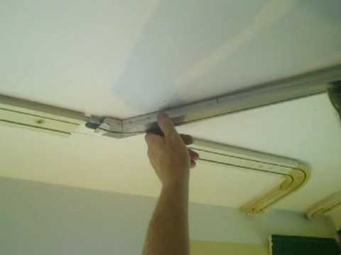 Easy Hang Curtain Track System - YouTube