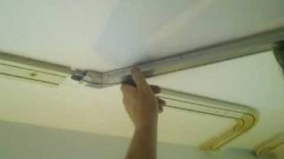 easy hang curtain track system