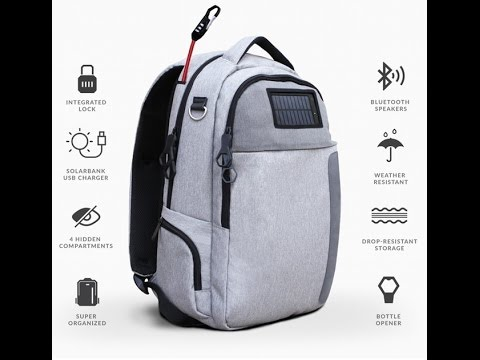 Smart Solar Powered & Anti-Theft Backpack - Lifepack