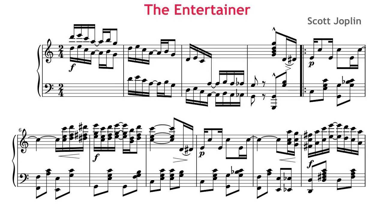 the entertainer piano sheet music easy pdf