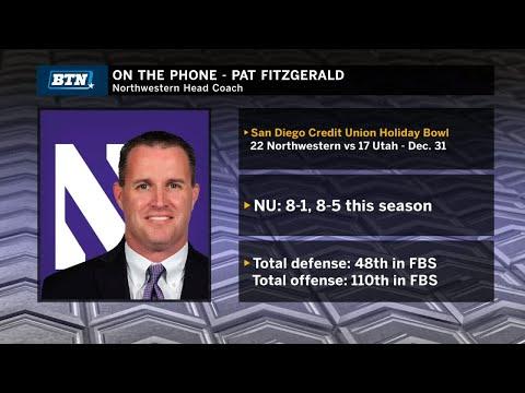 Pat Fitzgerald Looks Ahead to Holiday Bowl | Big Ten Football