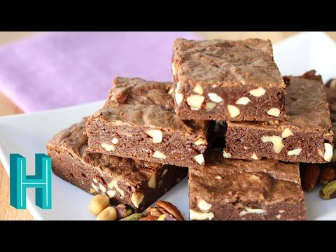 How to Make Chocolate Fudge Brownies with Nuts  Hilah Cooking