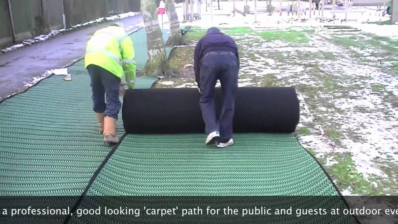 Grass Carpet | Sale and Hire | Installation Example - YouTube