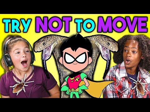 KIDS REACT TO TRY NOT TO MOVE CHALLENGE 2