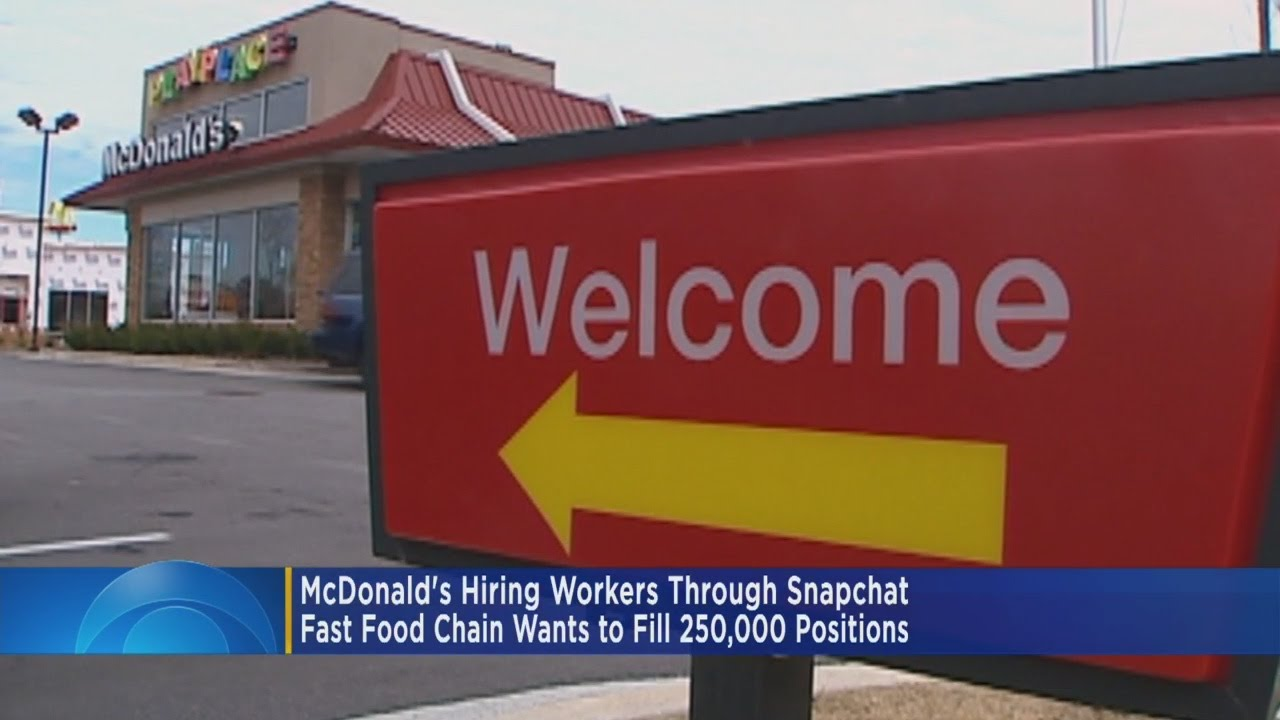 McDonald's will use Snapchat to hire for 250000 summer jobs