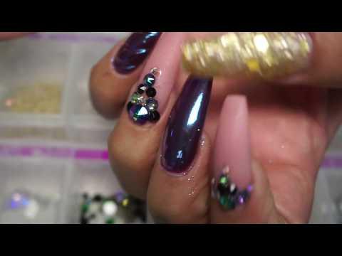 Midnight Unicorn Nails