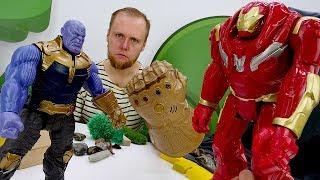 Танос и Мстители - Перчатка Бесконечности для героя Марвел!