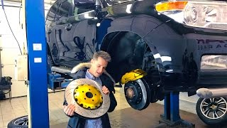 Tuning Brakes on Toyota Land Cruiser 200 for 270 000 rubles