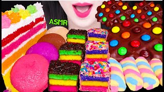 ASMR RAINBOW DESSERTS *CAKE POP, STAR CANDY, M&M'S CHOCOLATE WAFFLE, MARSHMALLOWS 먹방 EATING SOUNDS