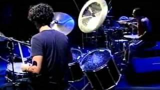 MB03 - Jam de bateristas (C.Gavin, V.Figueiredo, I.Cavalera, JMB e T.Ferraz) no Multishow em 2001