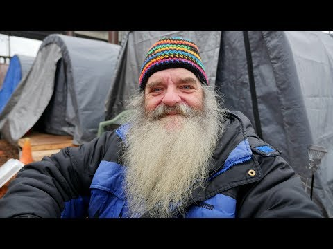 This homeless man came to Seattle's Tent City 5 to find a home.