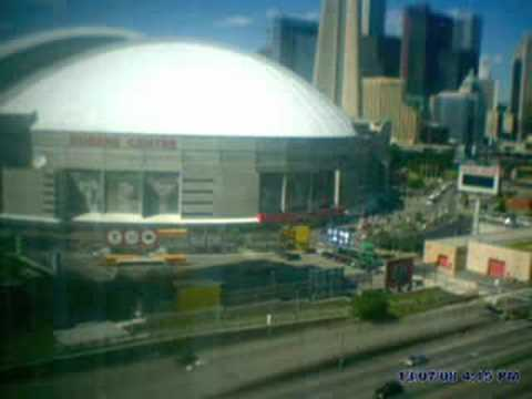 Time Lapsed Video Toronto Rogers Centre Skydome Roof