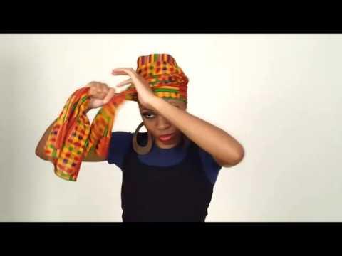 Howto tie a head wrap, Turban, Scarf, Kente, Gele, head tie