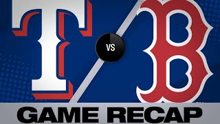 6/11/19: Pence leads Rangers to 9-5 win over Red Sox